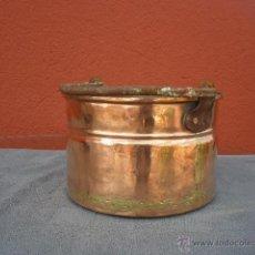 Antigüedades: OLLA - CALDERO DE COBRE. 21CM X14 CM. Lote 43553246