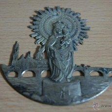 Antigüedades: VIRGEN DEL PILAR EN METAL. Lote 43572840
