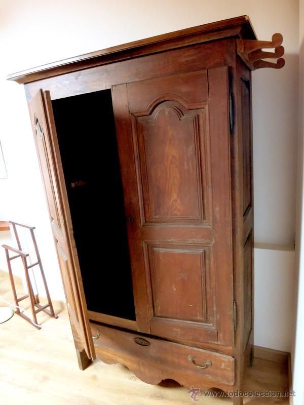 Armario Rustico Segunda Mano ~ armario rustico de roble castaño hecho a mano c Comprar Armarios Antiguos en todocoleccion