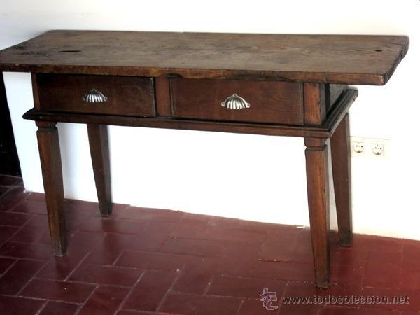 Antigua mesa rustica de madera de casta o tabl comprar - Mesa madera rustica ...
