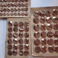 Antigüedades: 180 ANTIGUOS BOTONES METÁLICOS. Lote 136036000