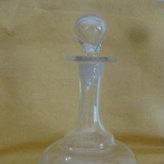Antigüedades: BOTELLA CRISTAL SOPLADO PEQUEÑA. Lote 43585897