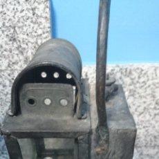 Antigüedades: FAROL TIPO MINA DE CARBURO EN BRONCE Y COBRE(VER OTRAS FOTOS). Lote 43595714