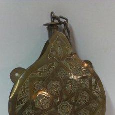 Antigüedades: BONITA CANTIMPLORA MARROQUI EN METAL REPUJADO. Lote 43596121
