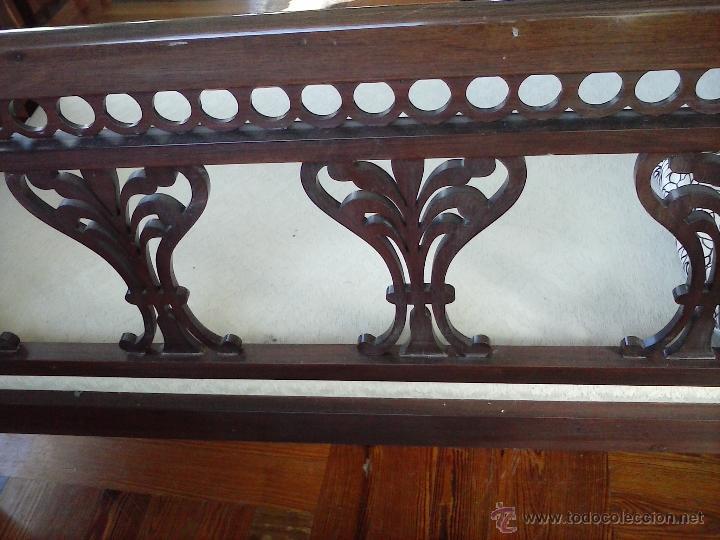 Antigüedades: Precioso y antiguo sofá de madera - Foto 3 - 37614088
