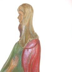 Antigüedades: ANTIGUA TALLA DE MADERA POLICROMADA. Lote 43601157