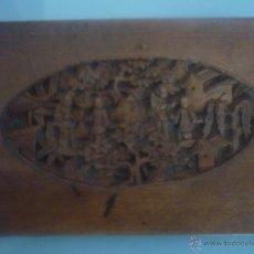 Antigüedades: AUTÉNTICA, DE FINALES SIGLO XIX TALLADA A MANO CON MOTIVOS ORIENTALES. PROCEDE DE FILIPINAS. Lote 43609221