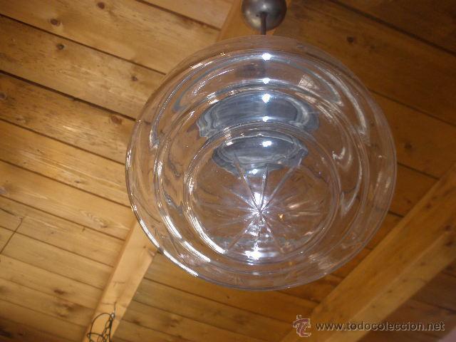 Antigüedades: LAMPARA CON TULIPA CRISTAL TRANSPARENTE - Foto 3 - 43611168