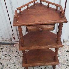 Antigüedades: MUEBLE RINCONERA ANTIGUA EN MADERA, CONSOLA PARA TELEFONO. Lote 43611209