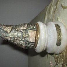 Antigüedades: VIRGEN DESAMPARADOS-EN PLATA-BASE 5,5CMS. MARMOL-IMAGEN PLATA.. Lote 43611675