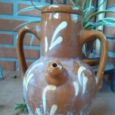Antigüedades: ANTIGUO BOTIJO DE AGUA, VIDRIADO.MANUFACTURAS LA BISBAL. Lote 43614381