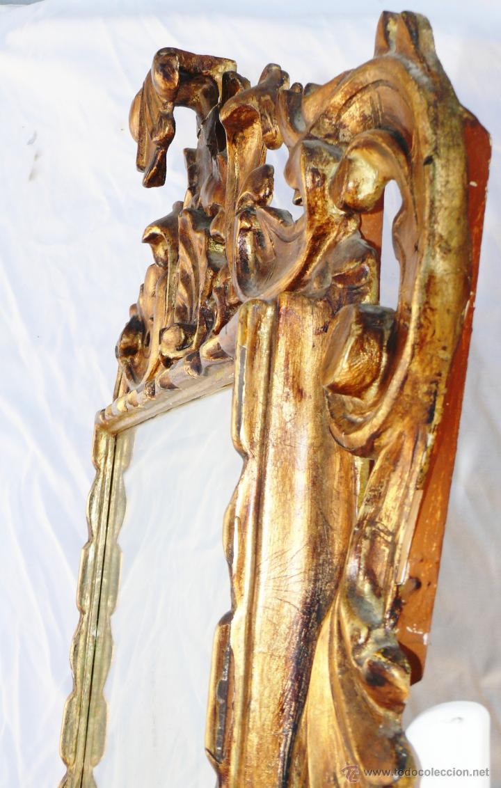 Antigüedades: GRAN ESPEJO CORNUCOPIA MUY ANTIGUO XIX EN MADERA Y PAN DE ORO LUIS XV ESTILO IMPERIO - Foto 2 - 286769238
