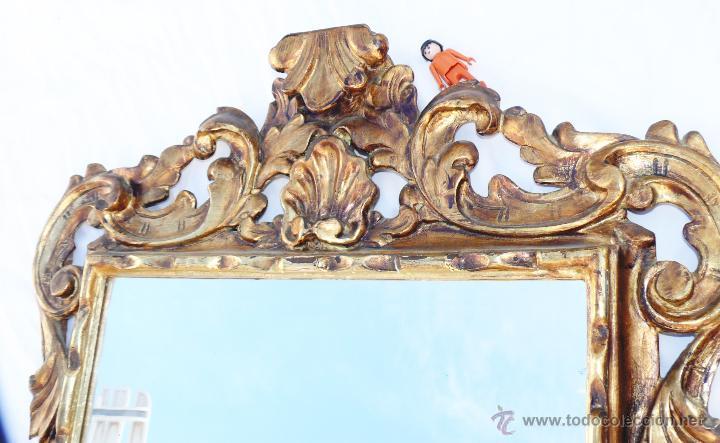 Antigüedades: GRAN ESPEJO CORNUCOPIA MUY ANTIGUO XIX EN MADERA Y PAN DE ORO LUIS XV ESTILO IMPERIO - Foto 3 - 286769238