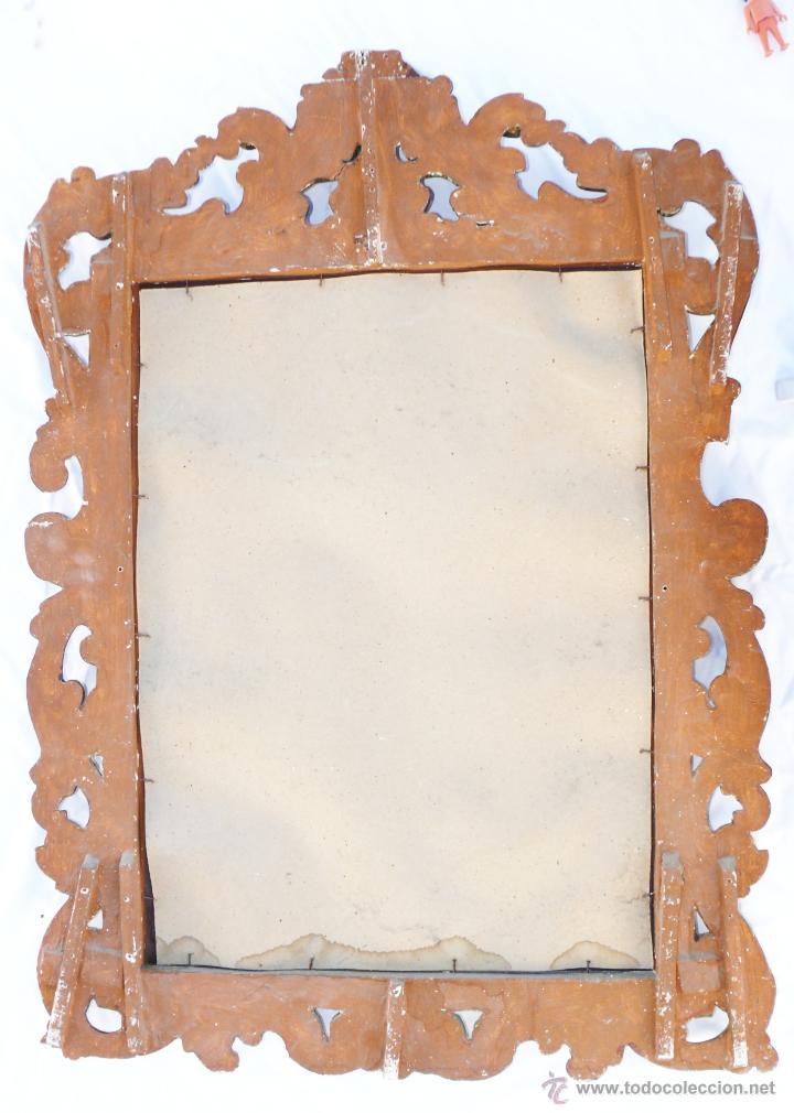 Antigüedades: GRAN ESPEJO CORNUCOPIA MUY ANTIGUO XIX EN MADERA Y PAN DE ORO LUIS XV ESTILO IMPERIO - Foto 4 - 286769238