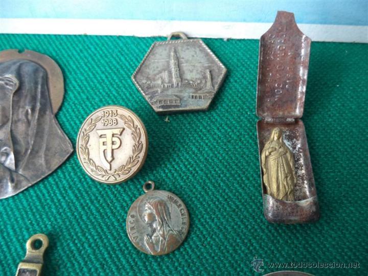 Antigüedades: lote de medallas religiosas - Foto 3 - 43624126