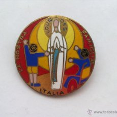 Antigüedades: PIN RELIGIOSO GRANDE, LOURDES, ITALIA, PINS. Lote 43624785