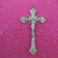Antigüedades: CRUCIFIJO DE BRONCE. Lote 43626577