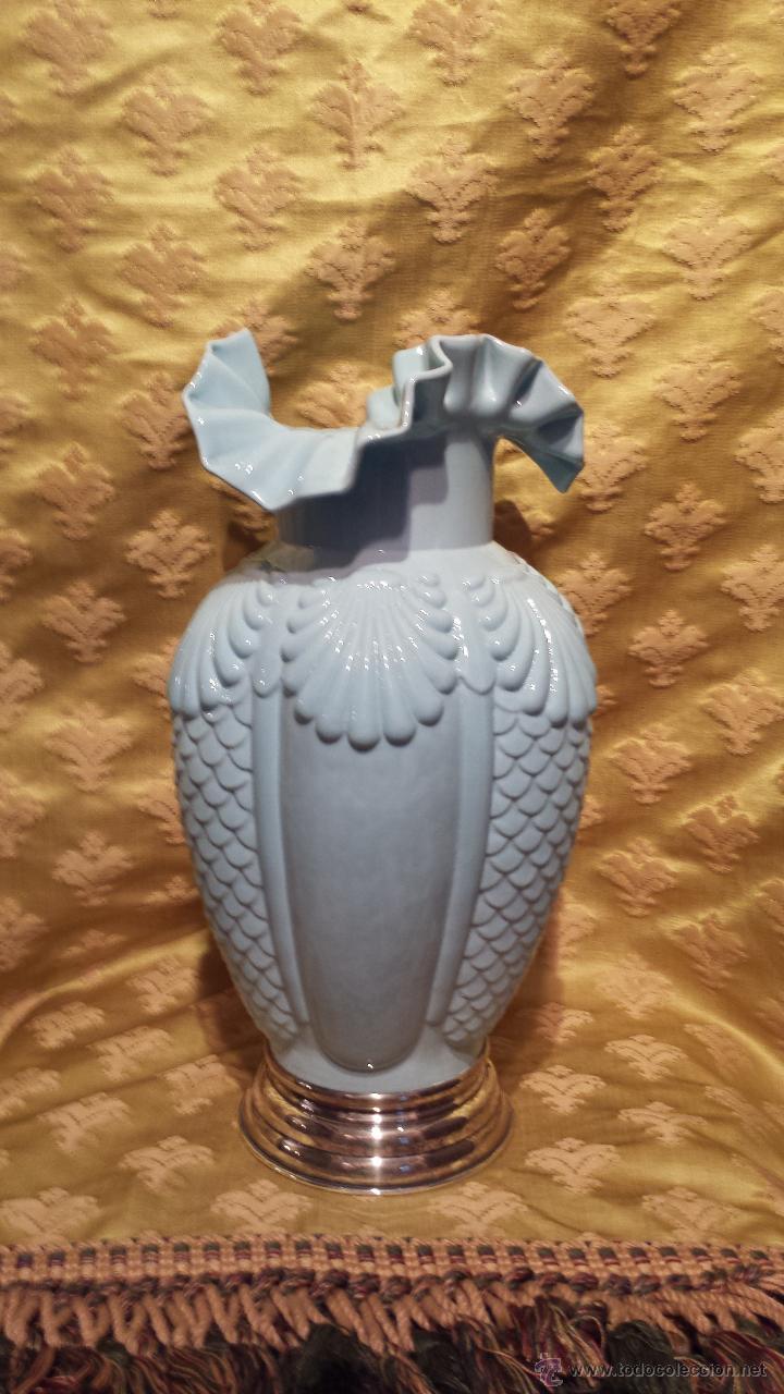 JARRÓN AZUL (Antigüedades - Hogar y Decoración - Jarrones Antiguos)