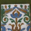 Antigüedades: AZULEJO ANTIGUO DE TOLEDO. ARISTA. RENACIMIENTO. SIGLO XVI. CATALOGADO.. Lote 43629377