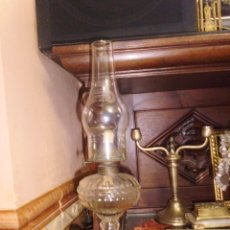 Antigüedades: ANTIGUO QUINQUEL DE CRISTAL. Lote 43635226