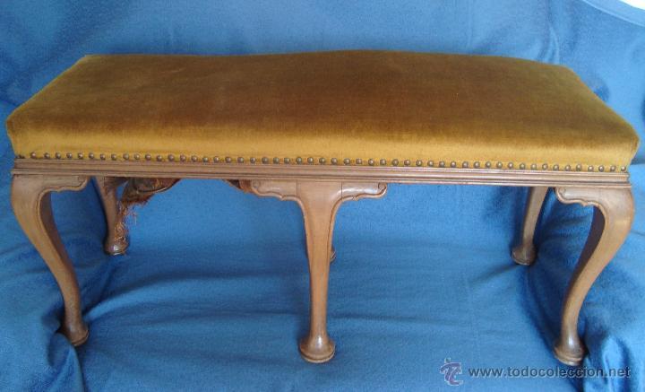 antigua banqueta pie de cama 6 patas 95cm, banq - Comprar Muebles ...