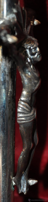 Antigüedades: PRECIOSO CRUCIFIJO ISABELINO CONFECCIONADO ÍNTEGRAMENTE EN PLATA. CIRCA 1850 - Foto 5 - 43651270
