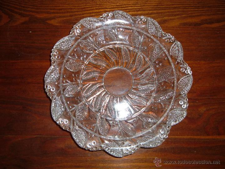 Antigüedades: Platitos de cristal prensado - Foto 2 - 43653624