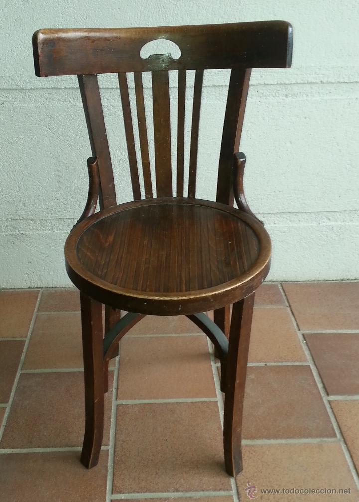Silla o sillas de bar de respaldo bajo vintage comprar - Sillas para bar ...