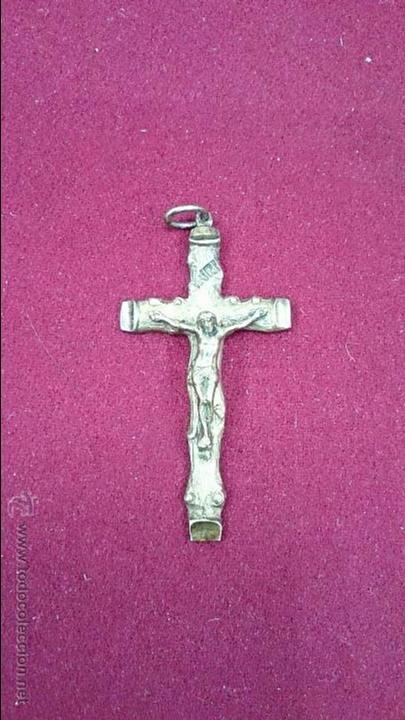 CRUZ DE BRONCE ANTIGUA (Antigüedades - Religiosas - Cruces Antiguas)