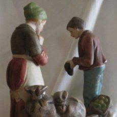 Antigüedades: ANTIGUA Y PRECIOSA REPRESENTACION FIGURAS EN BISCUIT DE EL ANGELUS DE MILLET, VER FOTOS.. Lote 43668881