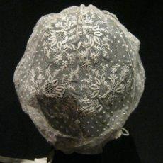 Antigüedades: ANTIGUO GORRO DE ENCAJE S. XIX. Lote 43686159