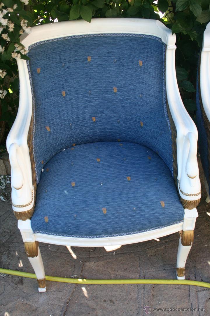 Antigüedades: antiguo conjunto de sillones - Foto 2 - 43707262