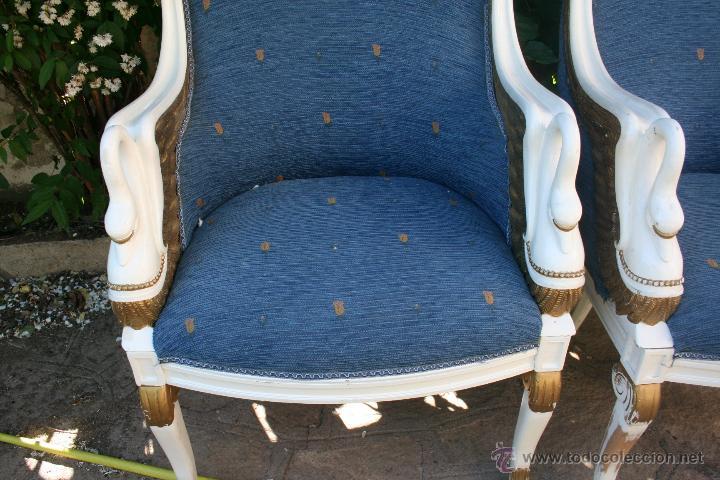 Antigüedades: antiguo conjunto de sillones - Foto 8 - 43707262