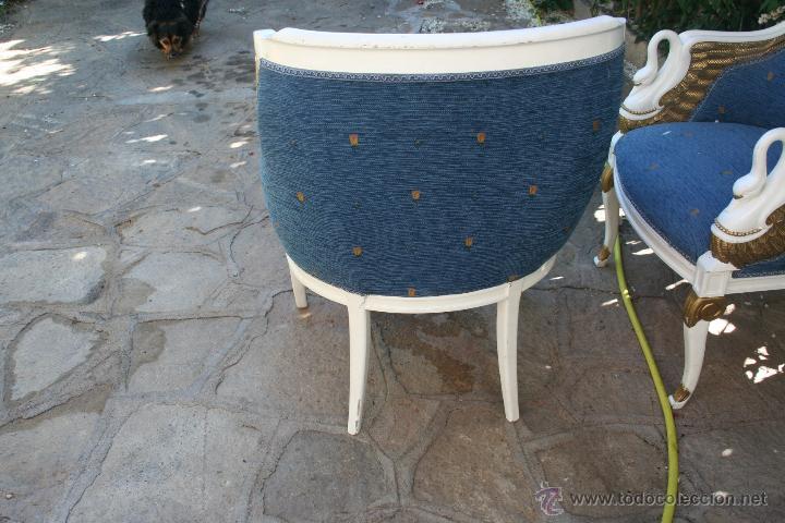 Antigüedades: antiguo conjunto de sillones - Foto 11 - 43707262