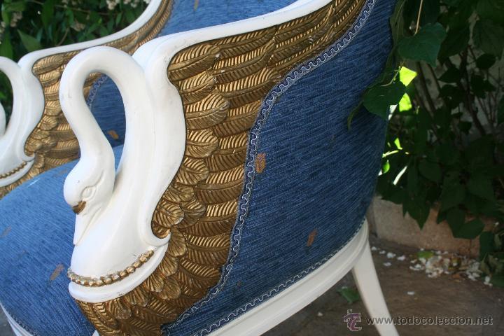 Antigüedades: antiguo conjunto de sillones - Foto 12 - 43707262