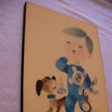 Antigüedades: ANTIGUO CUADRO VINTAGE PARA CUARTO INFANTIL . Lote 43708574