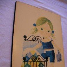 Antigüedades: ANTIGUO CUADRO VINTAGE PARA CUARTO INFANTIL . Lote 43708584