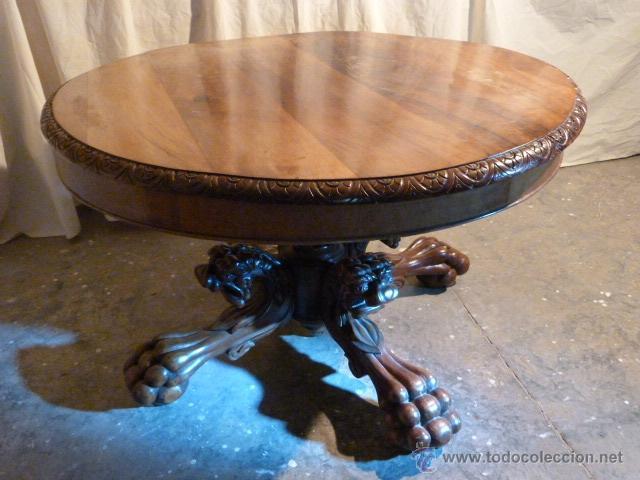 Mesa con patas talladas comprar mesas antiguas en for Baneras antiguas con patas baratas