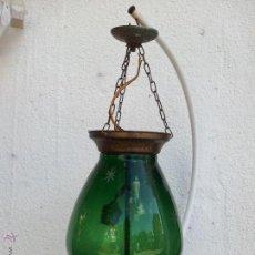 Antigüedades: ANTIGUA LÁMPARA DE CRISTAL PRINCIPIOS AÑOS 20. Lote 43723810
