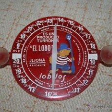 Antigüedades: ALICANTE, JIJONA..TURRONES EL LOBO.RELOJ AZUL HORARIO DE APARCAMIENTO PARA COCHE.. Lote 43723997