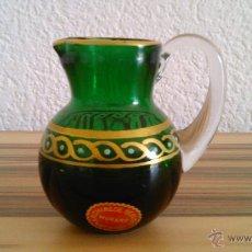 Antigüedades: BONITA JARRA DE CRISTAL DE MURANO,EN COLOR VERDE .. Lote 43726116