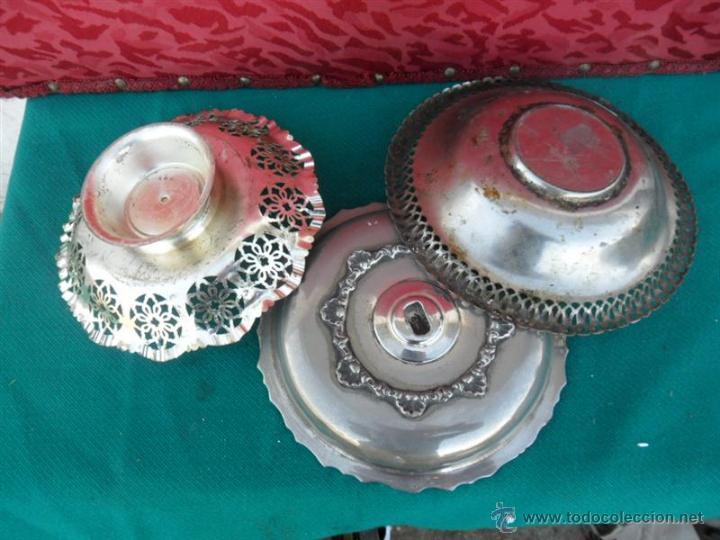 Antigüedades: 3 fruteros de metal - Foto 2 - 43728887