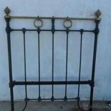 Antigüedades: CABECERO DE HIERRO Y METAL 100CM. Lote 43729679