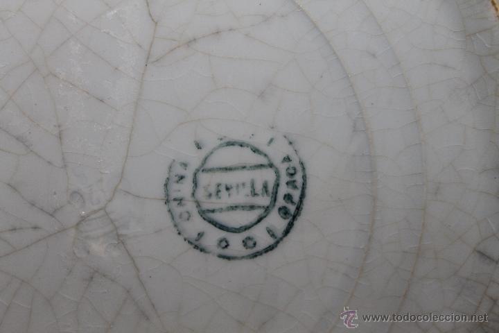 Antigüedades: PLATO HONDO NACARADO - SEVILLA CHINA OPACA - SIGLO XIX - DIÁMETRO: 24.5 CM. - Foto 7 - 43731236