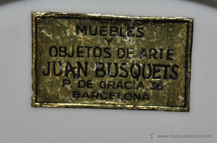 Antigüedades: DECORATIVO PLATO PINTADO DE MANUFACTURA ALEMANA BAVARIA (Serie Josefine) - Foto 7 - 43735988
