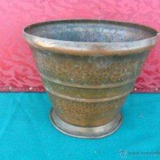 Antigüedades: MACETERO DE COBRE LABRADO. Lote 93814413