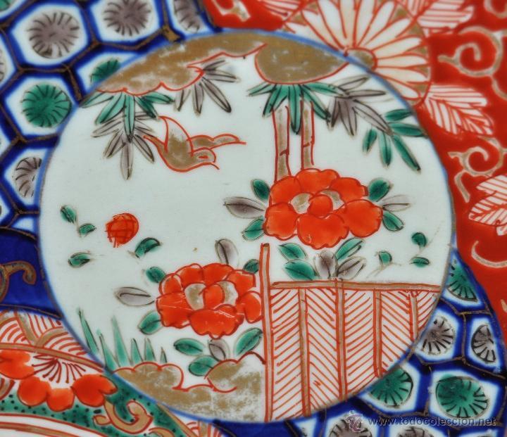 Antigüedades: DECORATIVO PLATO EN PORCELANA PINTADA DE IMARI (JAPON). AÑOS 30 - Foto 2 - 43751562