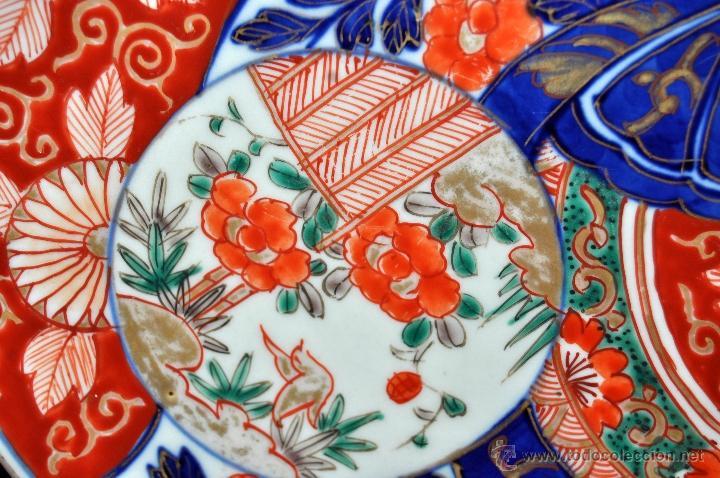Antigüedades: DECORATIVO PLATO EN PORCELANA PINTADA DE IMARI (JAPON). AÑOS 30 - Foto 4 - 43751562