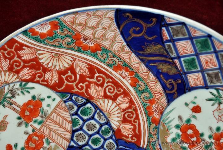 Antigüedades: DECORATIVO PLATO EN PORCELANA PINTADA DE IMARI (JAPON). AÑOS 30 - Foto 5 - 43751562
