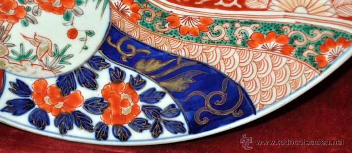 Antigüedades: DECORATIVO PLATO EN PORCELANA PINTADA DE IMARI (JAPON). AÑOS 30 - Foto 7 - 43751562